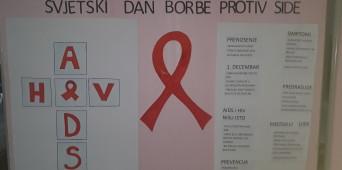 U našoj školi obilježen 1. decembar, svjetski dan borbe protiv AIDS-a