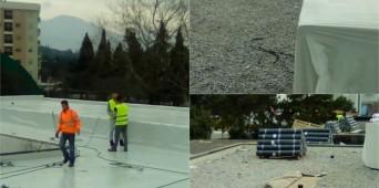 """Počeli radovi na rekonstrukciji krova OŠ""""Sutjeska"""""""